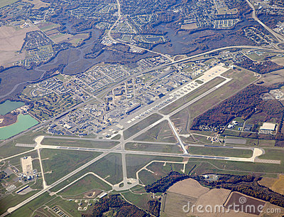 Aerial View of an Airport