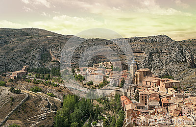 Aerial view of Albarracin