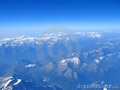 Aerial view of the alps mounts