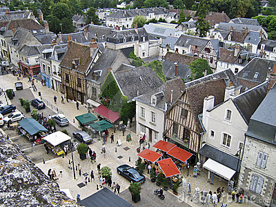 AERIAL VIEW OF AMBOISE