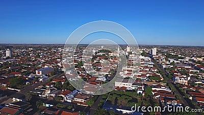 Aerial View in Araraquara city, state Sao Paulo - Brazil.  stock footage
