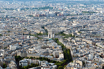 Aerial view on Arc de Triumph