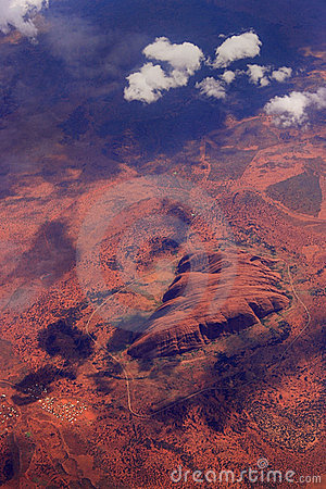 Aerial view of Ayers Rock Editorial Image