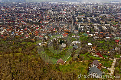 Aerial View of Baia Mare, Romania