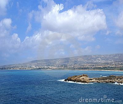 Aerial view of the beautiful island of Cyprus