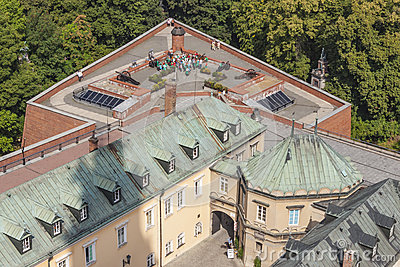 Aerial view from bell tower - Jasna Gora sanctuary