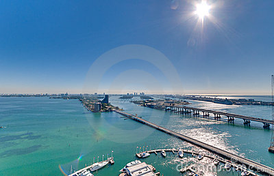 Aerial View of Biscayne Bay