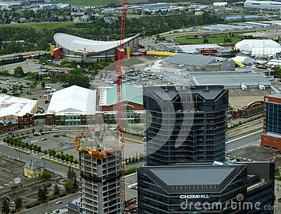 Aerial view of Calgary Stampede Grounds Editorial Photo