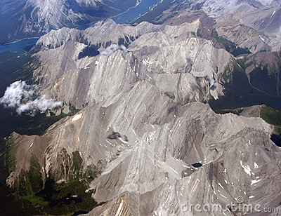Aerial view of the Canadian Rockies, Canada