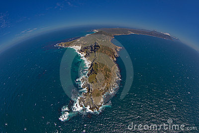 Aerial View of Cape Point and Cape of Good Hope