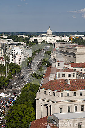Aerial view of the Capitol building