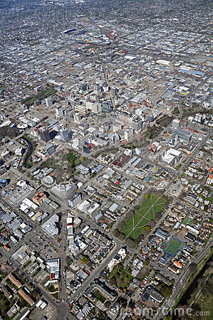 Aerial View of Christchurch Earthquake Demolitions Editorial Image
