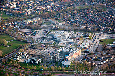 Stock Images: Aerial view of the city of Breda (