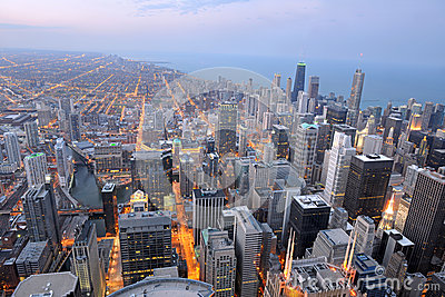 Aerial View of the City of Chicago