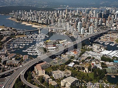Aerial view of the city of Vancouver - Canada