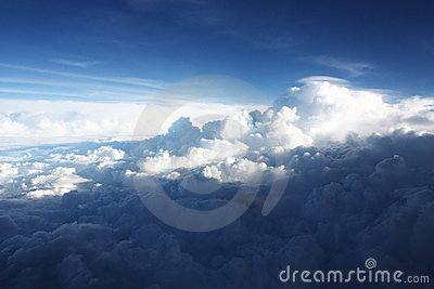 Aerial view Cloudscape Background