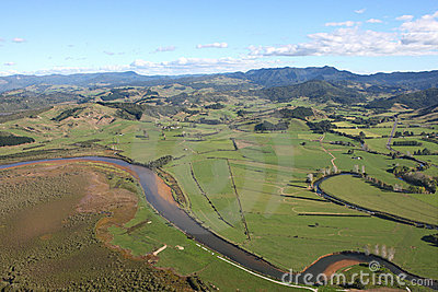Aerial View of the Coromandel Peninsular