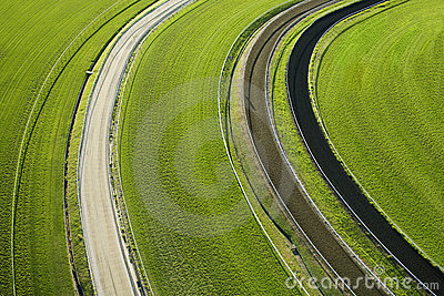 Aerial View of Cropland
