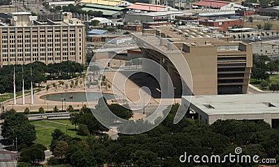 Aerial View - Dallas City Hall Plaza