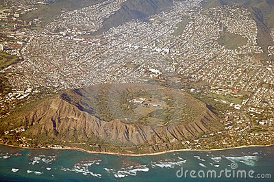 Aerial View Diamond Head Hawaii