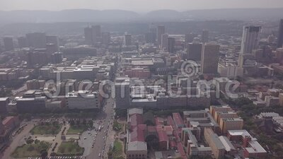 Aerial view of downtown of Pretoria, starting from Tshwane City Hall, South Africa. Aerial view of downtown of Pretoria, starting from Tshwane City Hall in South stock video