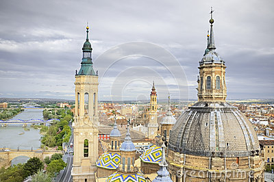 Aerial view of el Pilar cathedral