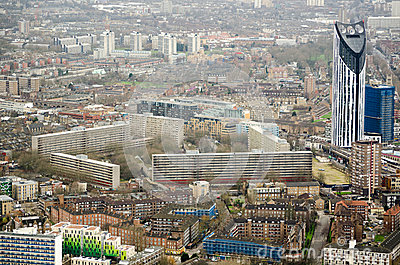 Aerial View, Elephant and Castle