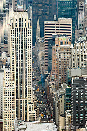Aerial view from Empire State Building in New York