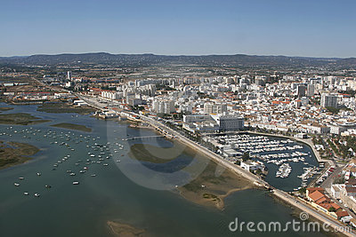 Aerial view of Faro