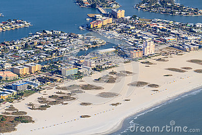 Aerial View on Florida Beach