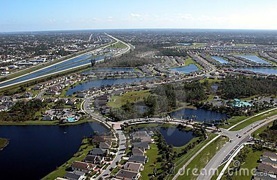 Aerial View Of Florida Highways