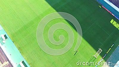Aerial view of football stadium in Araraquara Fonte Luminosa, Sao Paulo state - Brazil. Aerial view of football stadium in Araraquara, Sao Paulo state - Brazil stock video footage