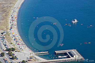 Aerial View of Fort Worden Beach