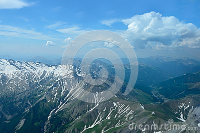Aerial view of french Alps