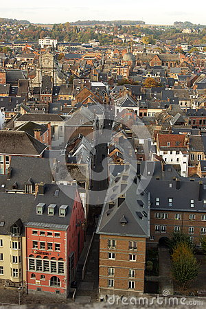 Free Aerial View, From The Citadel, Of The City Of Namur, Belgium, Europe Royalty Free Stock Photo - 80219465