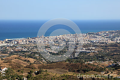 Aerial view of Fuengirola, Spain