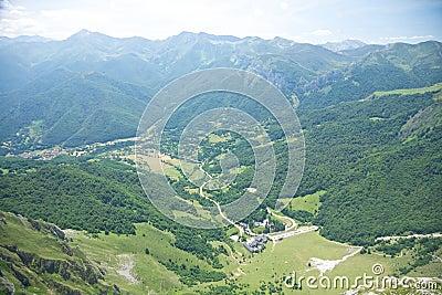 Aerial view of Fuente De village