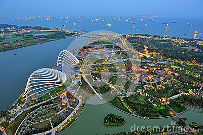 Aerial view of Gardens by the Bay Singapore