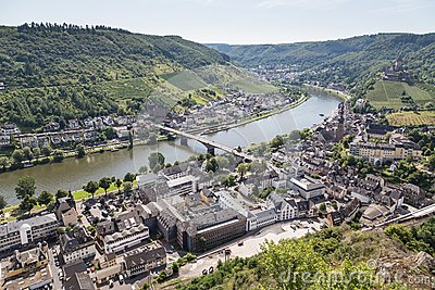 Aerial view of German city Cochem