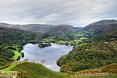Aerial view of Grasmere & dunm