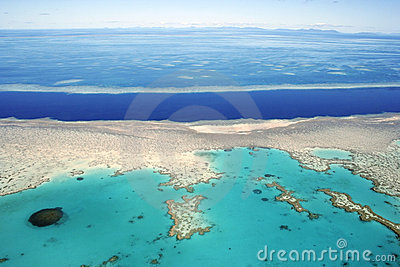 Aerial view of the Great Barrier Reef, Queensland,
