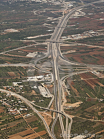 Aerial, view of a highway