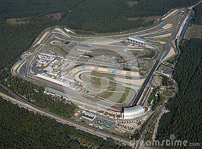 Aerial view of Hockenheimring, Germany Editorial Photography