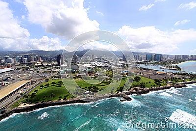 Aerial View of Honolulu