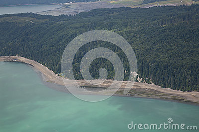 Aerial View of Hood Canal