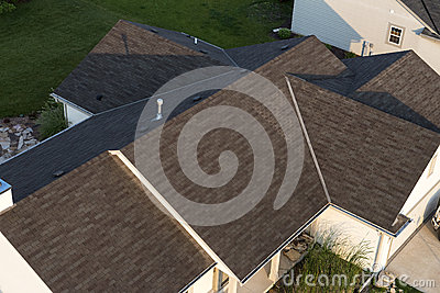 Aerial View House Home Roof Shingles Stock Photo Image