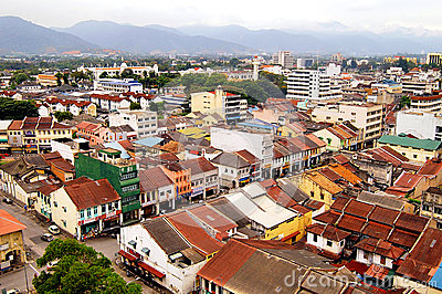 Aerial view of Ipoh Town Editorial Photo