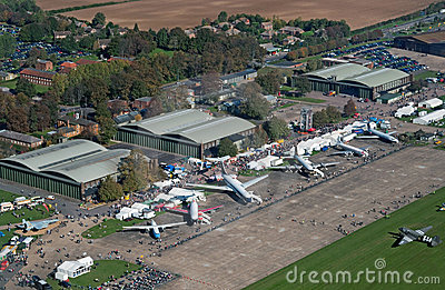 Aerial view of IWM Duxford Editorial Image