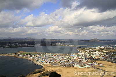 Aerial view of Jeju city