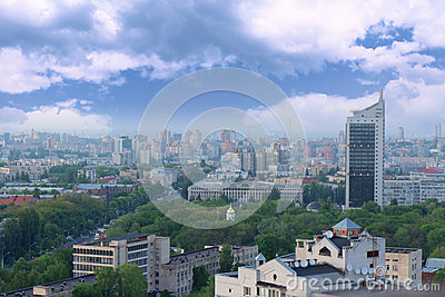 Aerial view on Kyiv, Ukraine